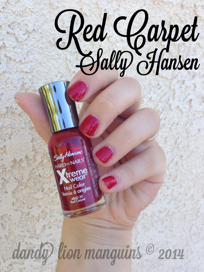 """Red Carpet"" by Sally Hansen on dandy lion manguins"